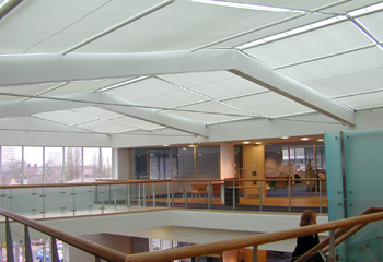 Astralux 5000 Tensioned Roller Blind and Atria Systems